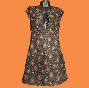 Free People Cap Sleeve Floral Mini Dress